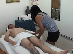 Guy gets double fun from massage and sex