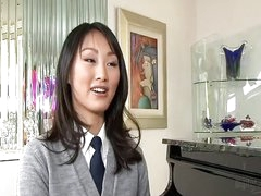 Concupiscent Oriental schoolgirl Evelyn Lin